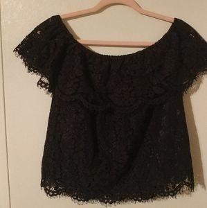 Navy lace blouse